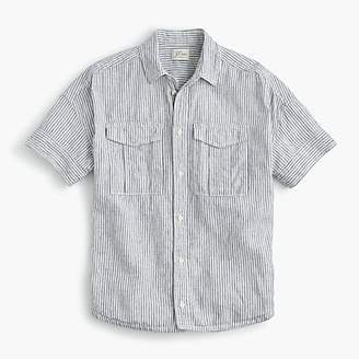 J.Crew Tall utility pocket shirt in chambray stripe