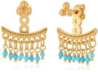 Satya Jewelry Turquoise Petal Gold Chandelier Earrings Jackets