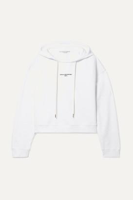 Stella McCartney Cropped Printed Organic Cotton-jersey Hoodie - White