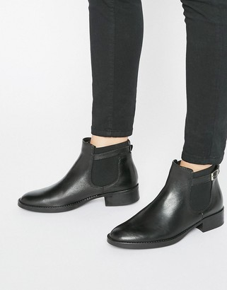 Oasis Leather Buckle Detail Chelsea Boot $76 thestylecure.com