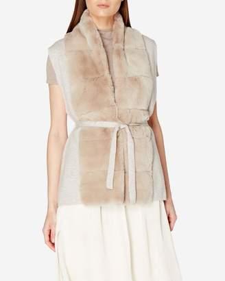 N.Peal Fur Placket Milano Cashmere Vest