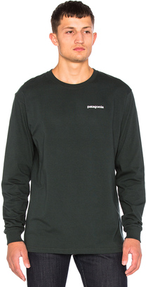 Patagonia P-6 Logo Long Sleeve Tee $45 thestylecure.com