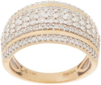 Affinity Diamond Jewelry Affinity Diamond 14K Gold Double Band Accent Ring, 1.00 cttw