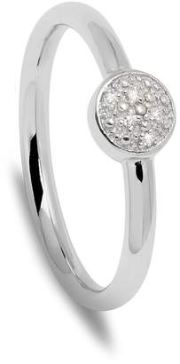 Lola Rose London - Curio Diamond Button Stacker Ring Silver