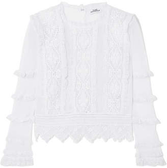 Place Nationale - Provence Crochet-lace And Mesh Top - White