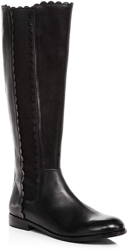 kate spade new york Women's Rayna Scalloped Leather Tall Boots