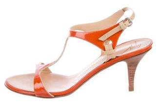 Giuseppe Zanotti Patent T-Strap Sandals