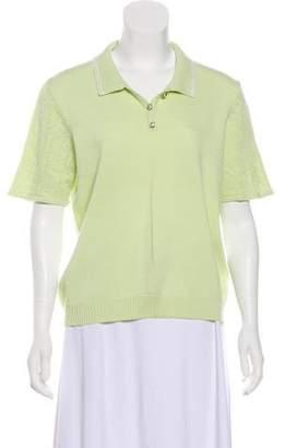 St. John Sport Wool Short Sleeve Top