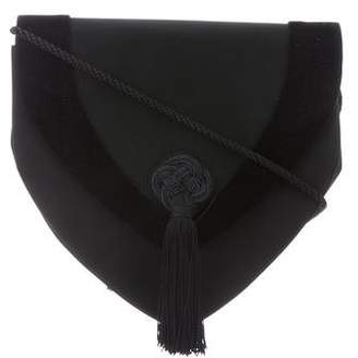 Nina Ricci Velvet-Trimmed Crossbody Bag
