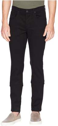 Hudson Byron Straight Zip Twill in Blackened Men's Casual Pants