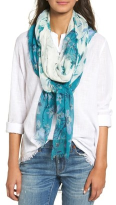 Women's Nordstrom Jungle Blossoms Scarf $39 thestylecure.com
