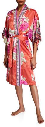 Natori Fusion Floral-Print Robe