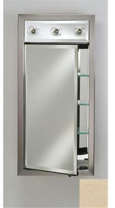 Afina Corporation SD-LC2030RARLPK 20 in.x 30 in.Recessed Single Door Cabinet with Contemporary Lights - Arlington Pickled