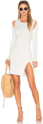 BCBGMAXAZRIA Braiden Sweater Dress in White $178 thestylecure.com