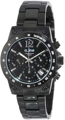 A Line a_line Women's AL-80020-BB-11MOP Liebe Chronograph Dial Ion-Plated Stainless Steel Watch