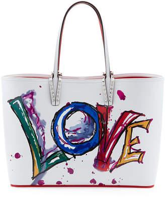 Christian Louboutin Cabata Calf Paris Love Tote Bag