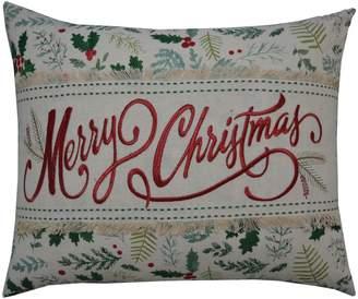 St Nicholas Square ''Merry Christmas'' Oblong Throw Pillow