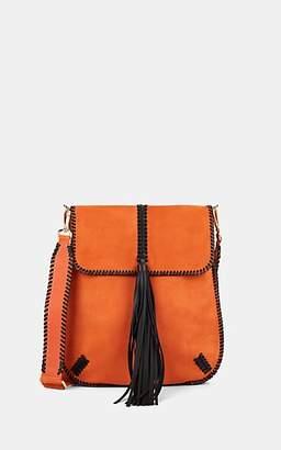 Alberta Ferretti Women's Suede Shoulder Bag - Orange