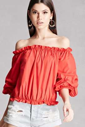 FOREVER 21+ Off-the-Shoulder Top $28 thestylecure.com