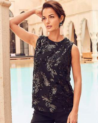 Fiorelli Joanna Hope All Over Sequin Top