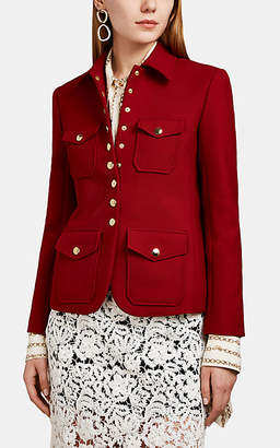 Chloé Women's Gabardine Cargo Jacket - Red