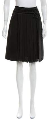 J. Mendel Velvet-Trim Knee-Length Skirt