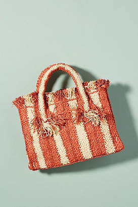 Anthropologie George Striped Small Tote Bag