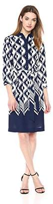Anne Klein Women's Printed Shirtdress
