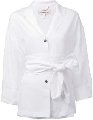 Mara Hoffman wrap waist shirt