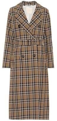 Max Mara S Finanza plaid cotton trench coat