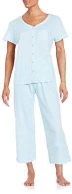 Karen Neuburger Printed Cotton-Blend Pajama Set
