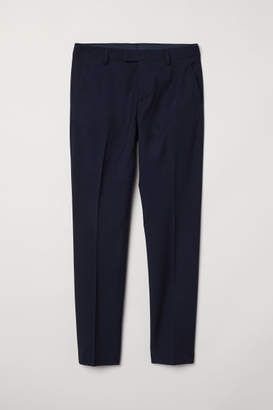 H&M Suit Pants Slim fit - Blue