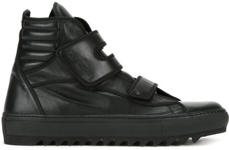 Raf Simons touch strap hi-top sneakers