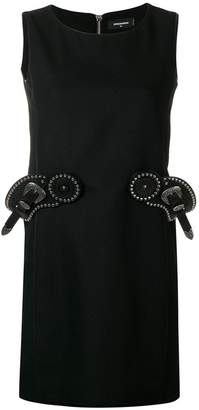 DSQUARED2 belt detail shift dress