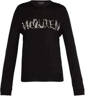Alexander McQueen Skeleton-intarsia wool sweater