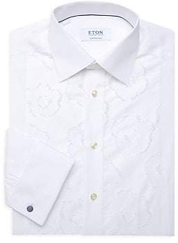 Eton Men's Contemporary-Fit Floral Embroidered Button-Down Shirt