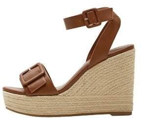 MANGO Wedge buckle sandals