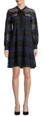 Gabby Skye Floral Lace Shift Dress