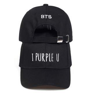 74be9d0d Glad You Came Live BTS V Fashion K POP I Purple U Letter dad Hats Adjustable