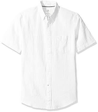 Dockers Long Sleeve Linen Button Front Woven Shirt