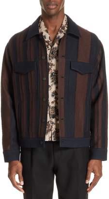 TOMORROWLAND Stripe Wool Blend Jacket