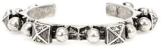 Saint Laurent Marrakech silver-toned brass bracelet