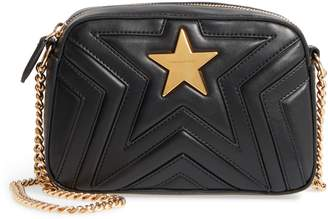 Stella McCartney Mini Star Quilted Faux Leather Camera Bag