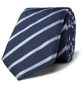 HUGO BOSS 6cm Striped Silk-Twill Tie - Men - Navy