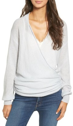 Women's Leith Wrap Front Sweater $75 thestylecure.com