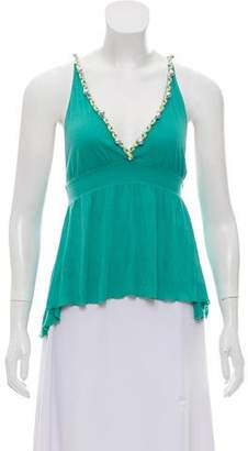 See by Chloe Sleeveless Peplum Top