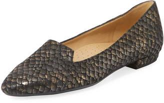 Neiman Marcus Garney Exotic-Embossed Flat