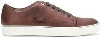 Lanvin perforated logo sneakers
