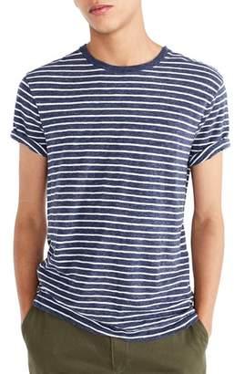 J.Crew J. CREW Stripe Slub Cotton T-Shirt