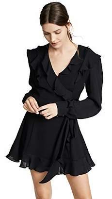 Parker Women's Pauline Combo Long Sleeve Ruffle Wrap Mini Dress